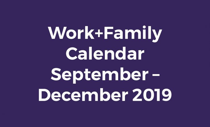 Work+Family Calendar September - December 2019