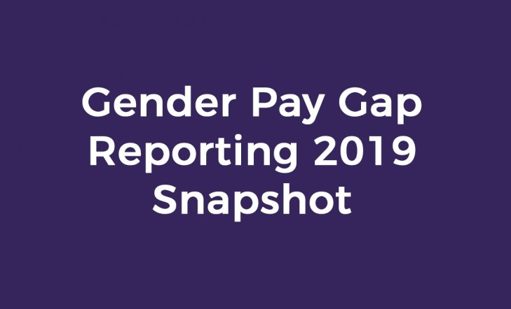 Gender Pay Gap Reporting 2019 Snapshot